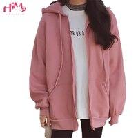 New Fashions Autumn&Winter Women Hoodies Sweatshirts Zipper Long Sleeve Warm Female Thicken Hoodies Drawstring Hoodie Jacket