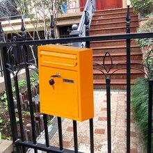 Винтажная американская почтовая коробка, железный держатель для газет, почтовые ящики, органайзер для дома и офиса, посылки для хранения