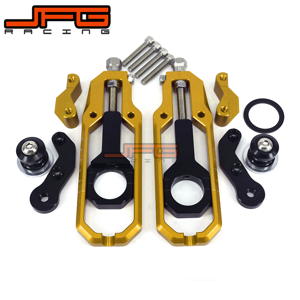 Chain Adjusters Tensioners With Spool Fit for GSXR600 GSX600R GSXR 600 GSXR750 GSX750R GSXR 750 2006 2007 2008 2010 2013 2014 motorcyclr chain tensioner adjuster with spool fit for suzuki gsxr 1000 gsx r1000 2007 2008 07 08 black