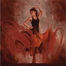 Arte figurativa de mulher flamenco espanhol Crescendo artwork pintado à Mão pinturas a óleo da lona para a decoração da parede