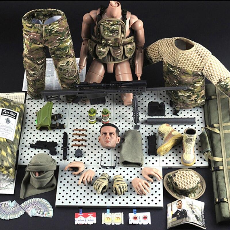 """1//6 SCALA Action Figure Militari BAMBOLA FLESSIBILI 12/"""" Jungle da Cecchino SOLDATO modello"""