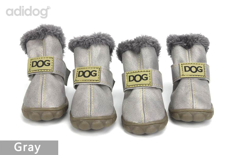 Pet Dog Shoes Winter Super Warm 4pcs set Dogs Boots Cotton Anti Slip XS 2XL Shoes for Small Pet Product ChiHuaHua Waterproof 409