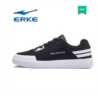 Erke men's shoes board shoes 2018 summer new student sports trend skateboard shoes men low top white