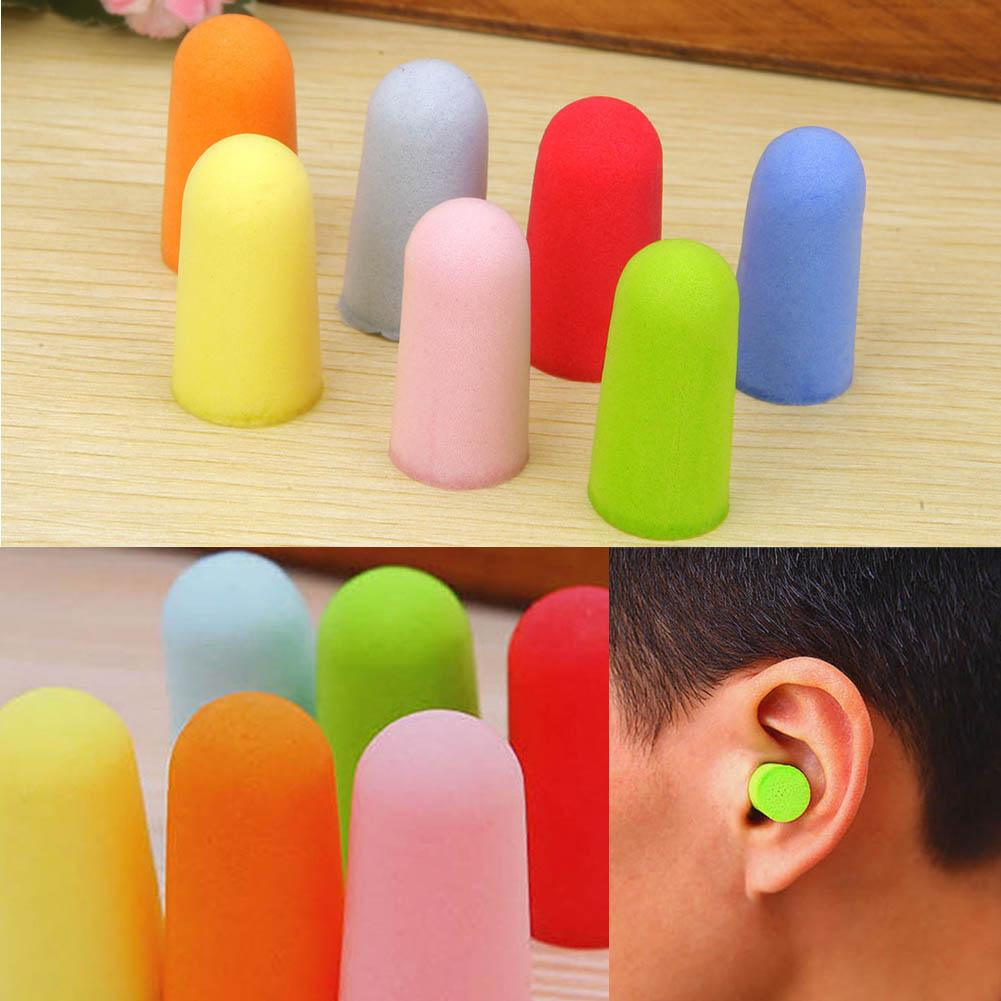 20 Pairs Soft Classic Foam Ear Plugs Travel Noise Reduction Prevention Earplugs Sound Insulation Anti-interference Tool