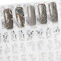 Patrón de Plata Del Clavo 3D Sticker Decal Mezcla de Verano perfecto Pegatinas Salón de Arte de Uñas Metallic Flores Nail Inclina la Decoración de Accesorios