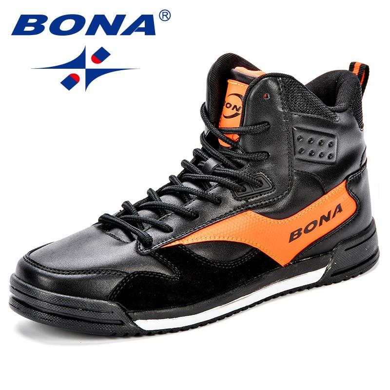 BONA New Style Men Skateboarding Shoes Man Lovers Flat With  Walking Sport Shoes Microfiber Outdoor Athletic Sneakers  ShoesSkateboarding