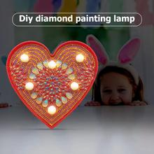DIY LED Diamond Painting Lamp Mandara Embroidery Full Special Shaped Drill Light Diamond Painting Cross Stitch Led Night Light