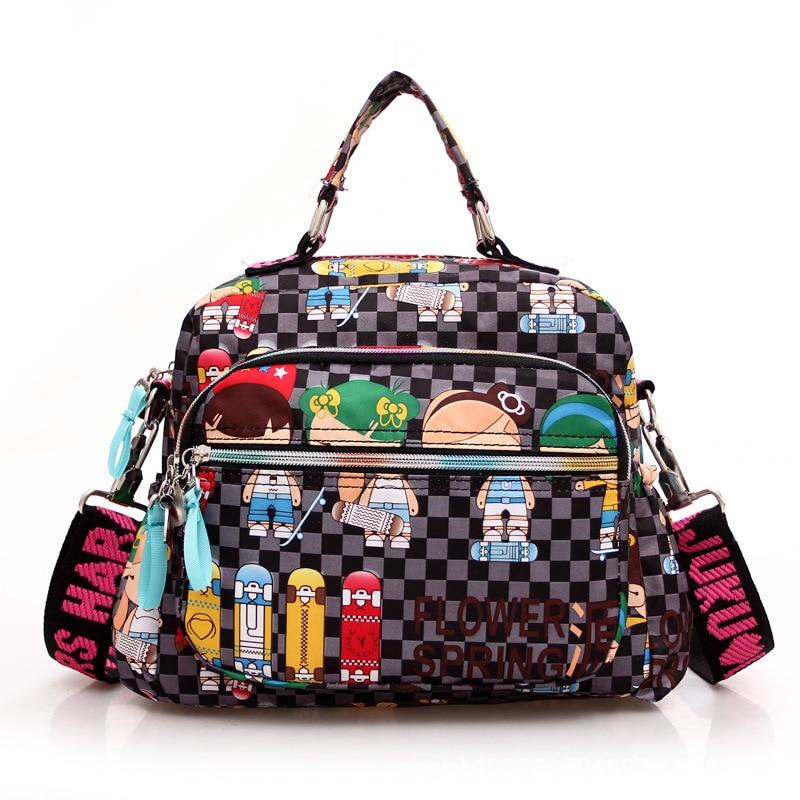 New Fashion Summer Women Messenger Bags Canvas Cartoon Print Crossbody Shoulder Bags Small Ladies Designer Mom
