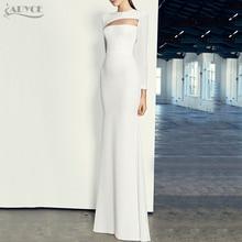 Adyce Woman Brand Long Bandage Dress 2017 Autumn New Long Sleeve O Neck Maxi Dress Vestidos Sexy Evening Party Dress Clubwear