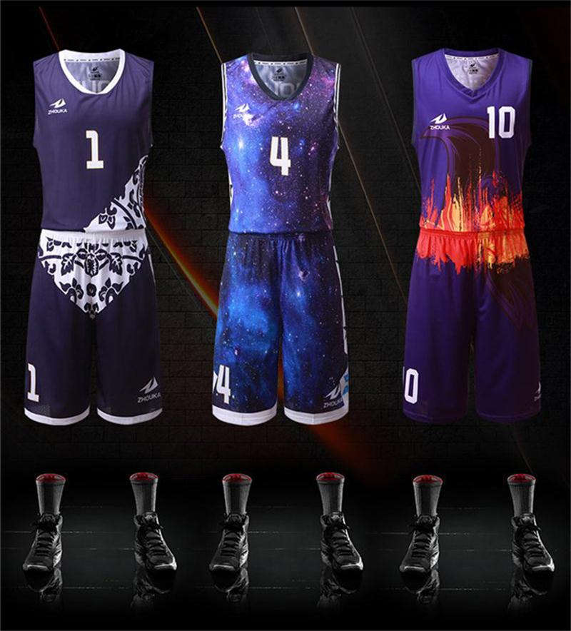2b96e39ac38d Custom basquete jersey print personalized pattern Colorful V collar  sleeveless throwback usa basketball jerseys Mini Order 5 pcs-in Basketball  Jerseys from ...