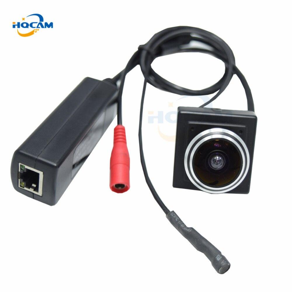 HQCAM 720P POE mini ip camera support Microphone onvif p2p POE surveillance external POE Power Over Ethernet 1.78MM Fisheye Lens все цены