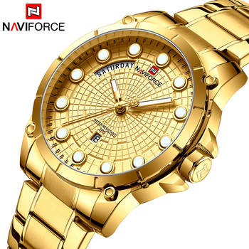 NAVIFORCE Top Luxury Brand Men Sport Watches Mens Quartz Analog Clock Man Military Waterproof Wrist Watch relogio masculino - discount item  40% OFF Men's Watches