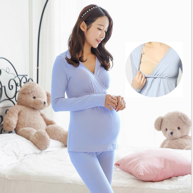 breastfeeding pajamas set breast feeding nightwear women maternity nursing pajama set sleepwear pregnancy clothes