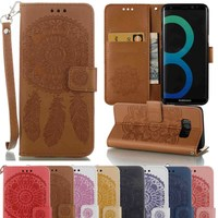 Flip Leather Case Wallet Cover for Samsung Galaxy S5 S6 S7 Edge S8 Plus A3 A5 J3 J5 2015 2016 Grand Prime G530 G531H