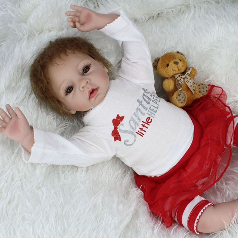 22 Inch Silicone Reborn Baby Dolls Real Look Baby Alive