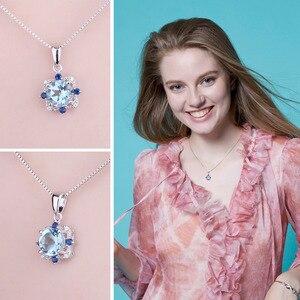 Image 4 - Collier pendentif en topaze bleue naturelle bijourypalace 925 pierres précieuses en argent Sterling collier ras du cou déclarati