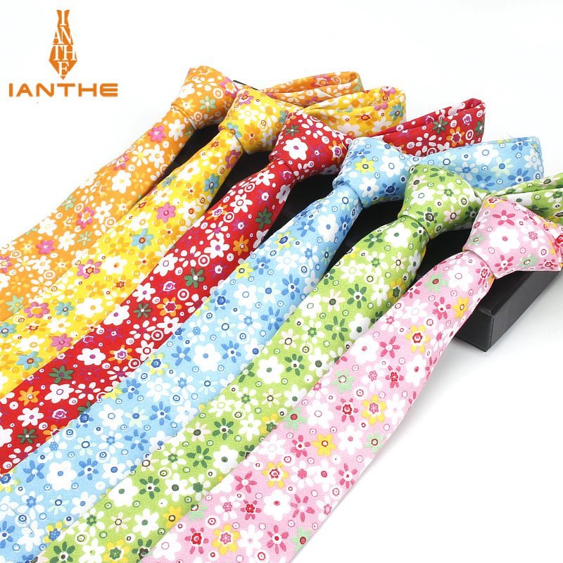6cm Men's Flower Print Necktie Business Suits Neck Ties Wedding Groom Floral Neckwear Tie Brand Skinny Gravatas Gift Necktie