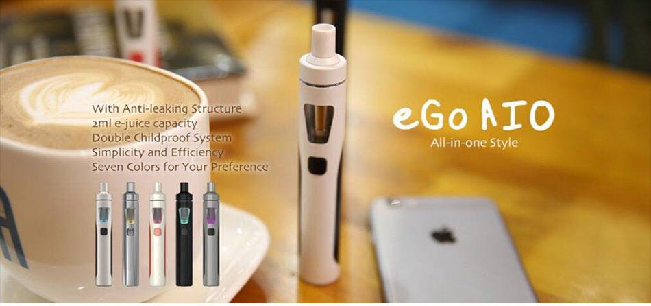 , Original Joyetech EGo AIO 1500mAh Kit All In One Kit 2ml 0.6ohm Vaporizer W/ AIO Silicone Case Cover Electronic Cigarette Vaping