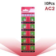 10pcs/pack AG2 LR726 396 Button Batteries SR726 196 Cell Coin Alkaline Battery 1.55V SG2 SR9 726 LR59 For Watch Toys Remote стоимость