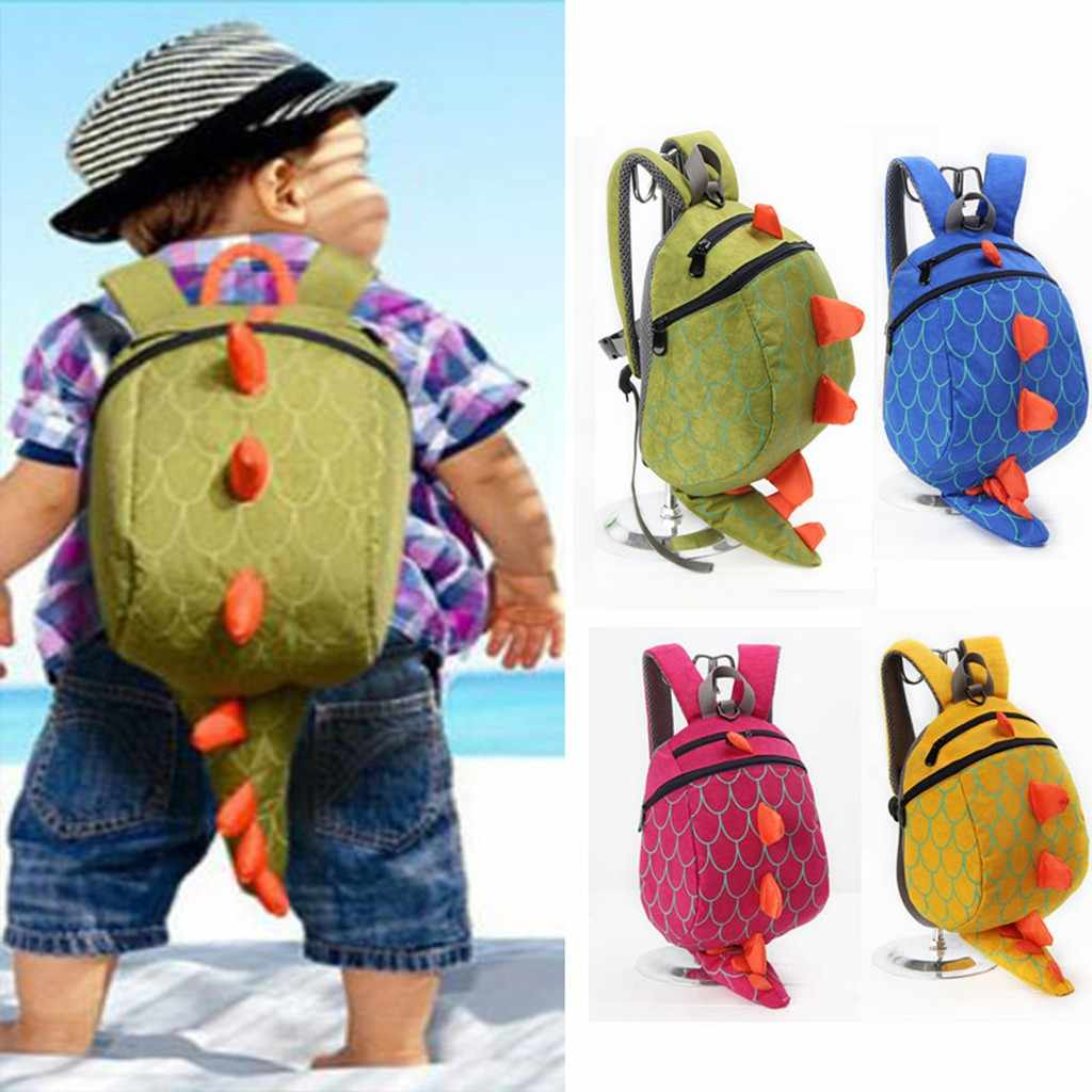 Kualitas Tinggi Tahan Air Oxford Women Backpachildren Anak-anak Anak-anak Gadis Fashion Cute Cartoon 3D Dinosaurus Bahu Tas Ransel 619P