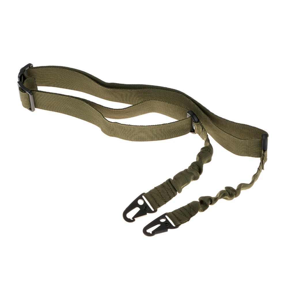 Airsoft Adjustable 2 Dua Titik Taktis Senapan Sling Tali Paintball Berburu Gun Tali Militer Sabuk 3 Warna Nilon Senjata Tali