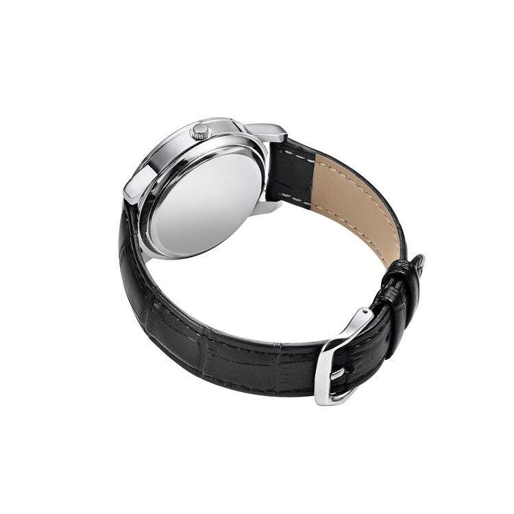 Image 5 - Quartz Watch Men Leather Steel Counterclockwise Backward Scale Oil Embossing Dial Waterproof Reverse Watch Boy Student Men WatchQuartz Watches   -