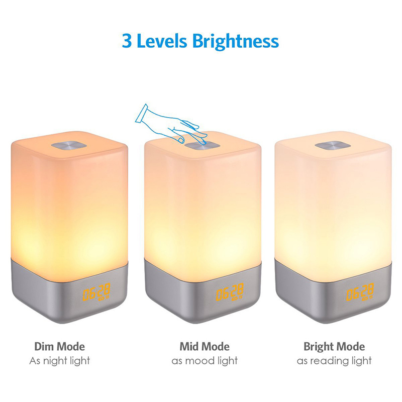 Hot LED Wake Up Alarm Clock 3 Brightness Night Light Digital Modern Design Table Desktop Clocks