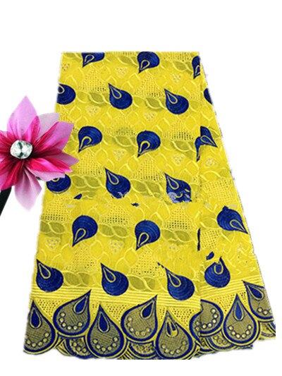 Dentelle suisse jaune et bleu dentelle suisse africaine voile en suisse haute qualité 100% coton dentelle tissu-in Dentelle from Maison & Animalerie    1