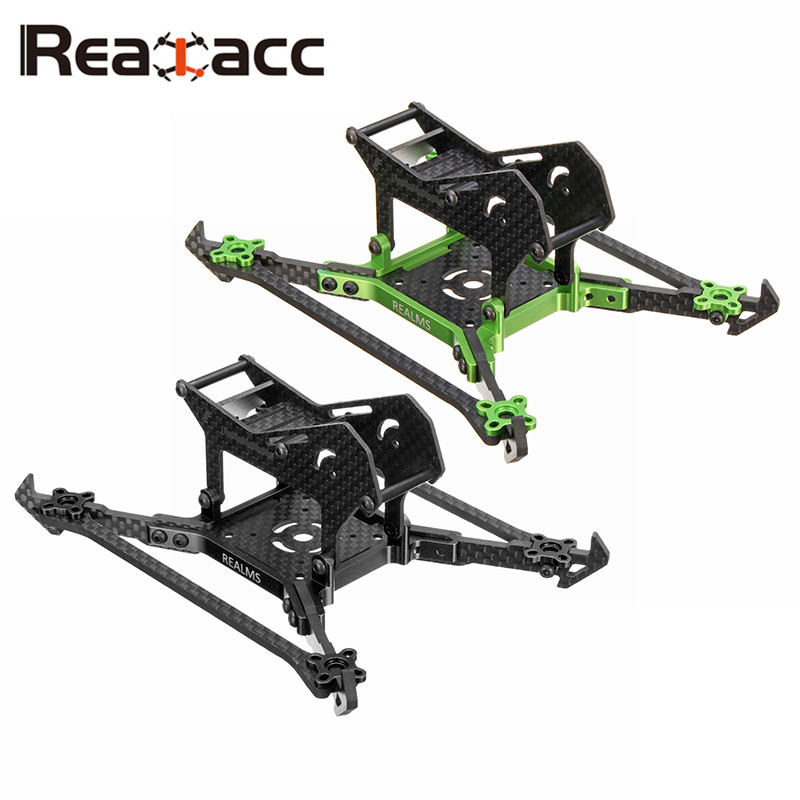 Realacc Real1MS Frame Kit 140mm 3 Inch Stretch Carbon Fiber FPV RC Racing Drone 3mm Vertical Arm for Multirotor ESC DIY Parts realacc kt100 100mm carbon fiber frame kit for rc quadcopter multirotor fpv camera drone x type frame accessories purple