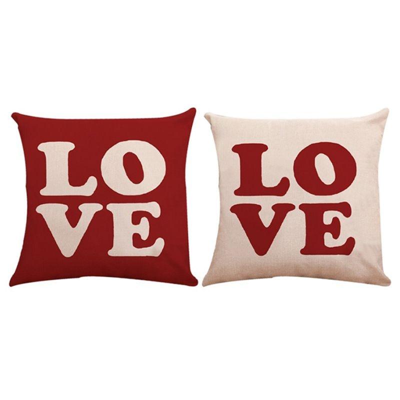 1PC Square Cotton Line Cushion Cover Pillow Cover Pillowcase Home Decors
