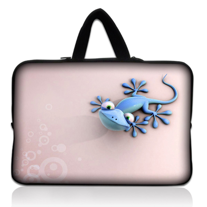 Gecko Pink 15 Notebook Laptop Sleeve Bag Case Carrying Handle Case Cover 1515.6 for HP Dell Acer ASUS Sony For Macbook Pro #