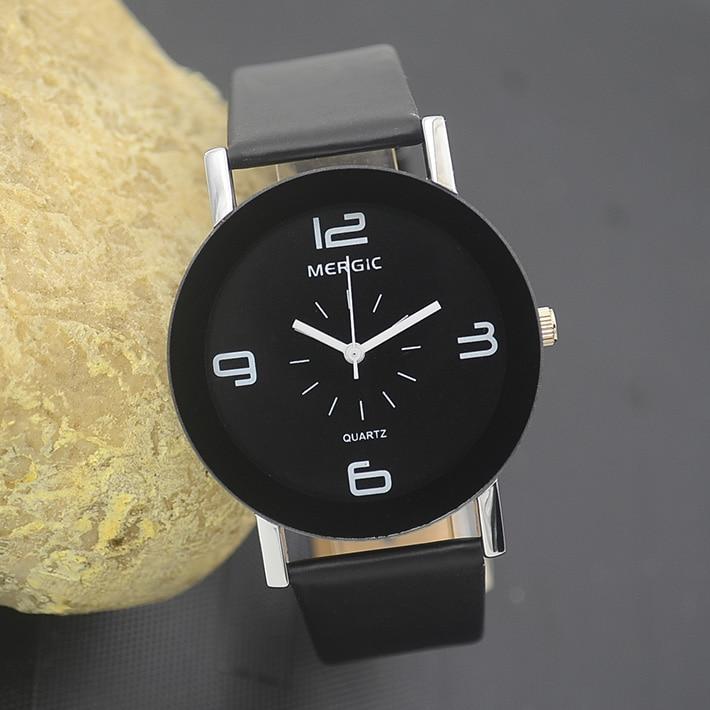Black And White Arabic Men Unisex Fashion Watchs