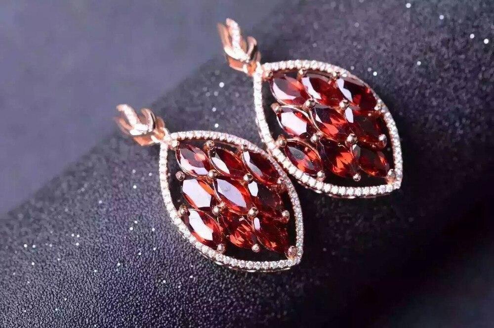 Ambre Feuille Pendentif Et Earrings Set Argent Massif Naturel Pierres Fine Jewelry Sets