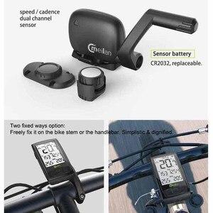 Image 4 - Беспроводной Велосипедный компьютер M4, велосипедный измеритель скорости с датчиком скорости и частоты вращения, можно подключить Bluetooth ANT + (установить монитор сердечного ритма)