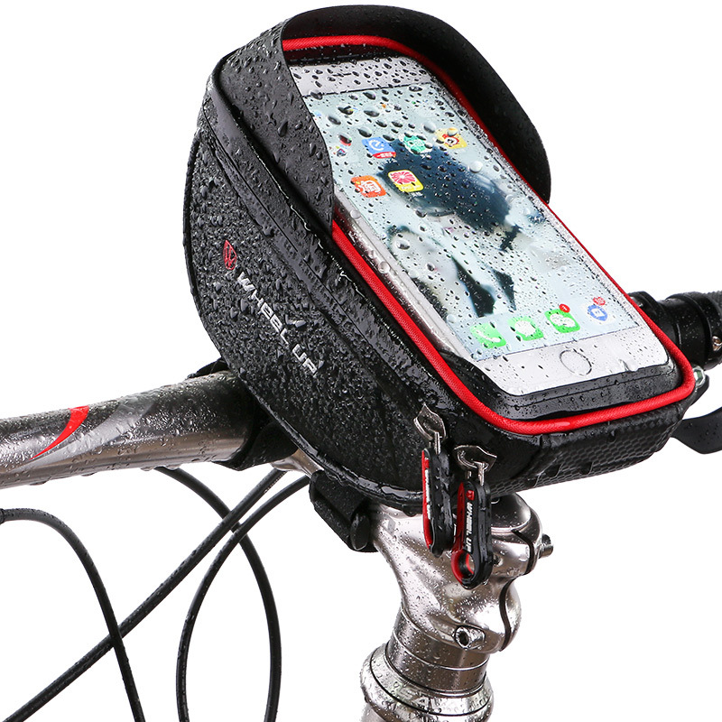 Waterproof Phone Mount Bag Wateproof Universal Cycling Bicycle Frame Pouch Phone Holder 6.0in for Iphone 66s77s8X Storage Case (5)