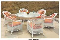 Современные белый набор садовой мебели из ротанга большой Размеры круглый стол 1.2 м 6 chiars Уличная мебель комплект сад Villa Hotel отдыха Мебель