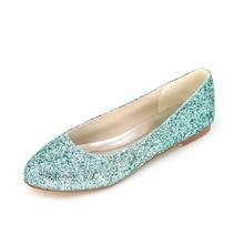 Sparkling 3D glitter bling bling green blue red purple woman flats beach wedding party night club fashion show shoes flat