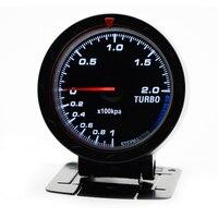 2.5 60MM 12V Car Gauge Meter Boost Turbo Gauge 1 2BAR Black Face With Turbo Sensor Without Logo