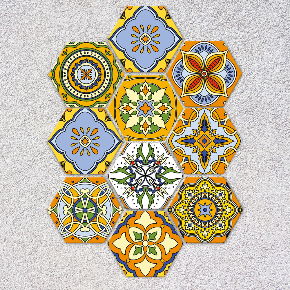 Funlife DIY Morocco Decor Floor Stickers Self Adhsive Wall Sticker ...