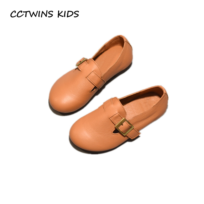 CCTWINS KIDS 2018 Autumn Toddler Genuine Leather Loafer Baby Girl Brand Black Casual Shoe Children Fashion Flat GL1951