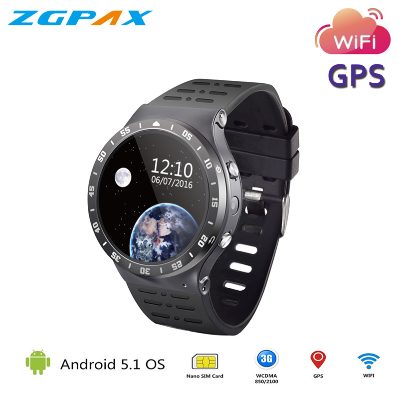 2018 New Arrival S99A Android OS SmartWatch 8G ROM Touch Screen 3G GPS WIFI Fitness Tracker Watch pk kw88 GT88 Smart Watch new arrival c w 5 25g 4m 5m 99