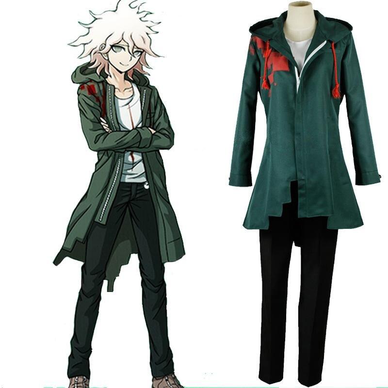 Super Dangan Ronpa 2 Nagito Komaeda Cosplay Costume Danganronpa Cosplay Jacket Outfit