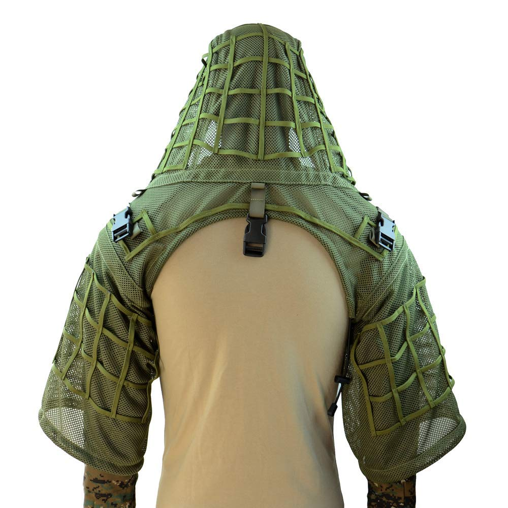 Super Respirant Ghillie Costume Fondation, Sniper Tog Ghillie Base pour Airsoft, Paintball, Tactique, maillage complet Nylon, Léger