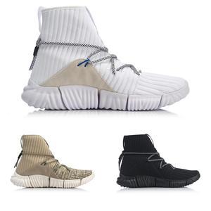 Image 2 - Li ning zapatillas de estilo de vida para hombre, de corte alto, Mono hilo de reajuste, forro Li Ning, zapatillas deportivas AGLN131 YXB237