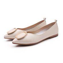 Luxury Women Flats Shoes Spring/Autumn 2019 Ballet Flats Fashion Casual Shoes Woman Solid Pointed Soft Bottom Maternity Shoes цена 2017
