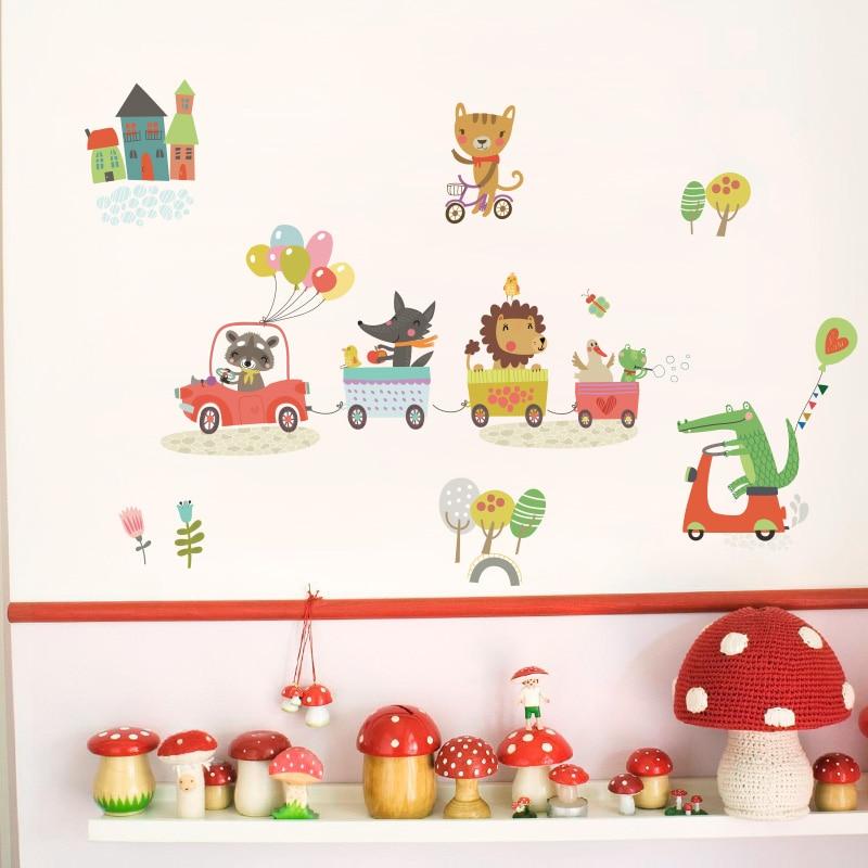 Sticker për kafshë pyjore për dhoma për fëmijë Dhoma në - Dekor në shtëpi - Foto 3