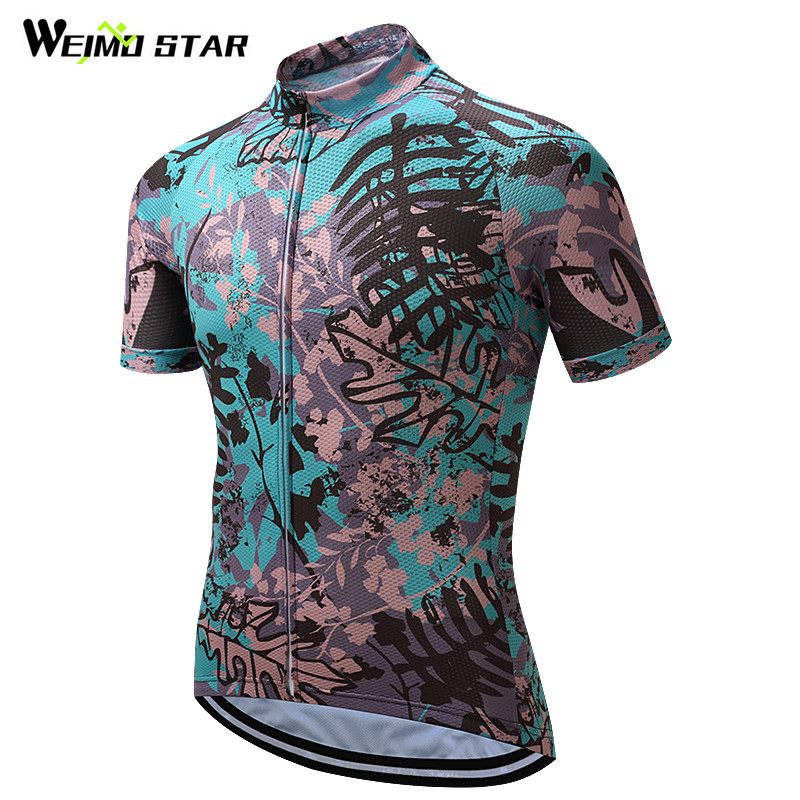Weimostar Leaf Pro Team Ciclismo Jersey Tops Racing Bike Jersey - Ciclismo