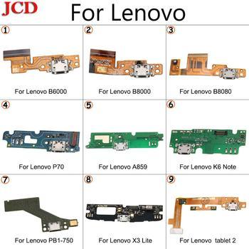 JCD Новый USB зарядный порт гибкий разъем для Lenovo Pad B6000 B8000 B8080 P70 A859 K6 Note PB1-750 X3 Lite планшет 2 USB плата для зарядки