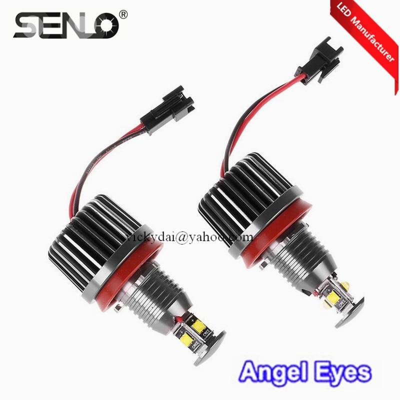 Error free led angel eye 40W for BMW e92 h8 E60 E61 E63 E64 E70 X5 E71 X6 E82 E87 E89 Z4 M3 E93 xenon white 6000k led halo ring super bright 120w h8 6000k error free cree chips led light bulb angel eye bulbs for bmw 1 3 z series e82 e88 e89 e90 e92 e93 m3