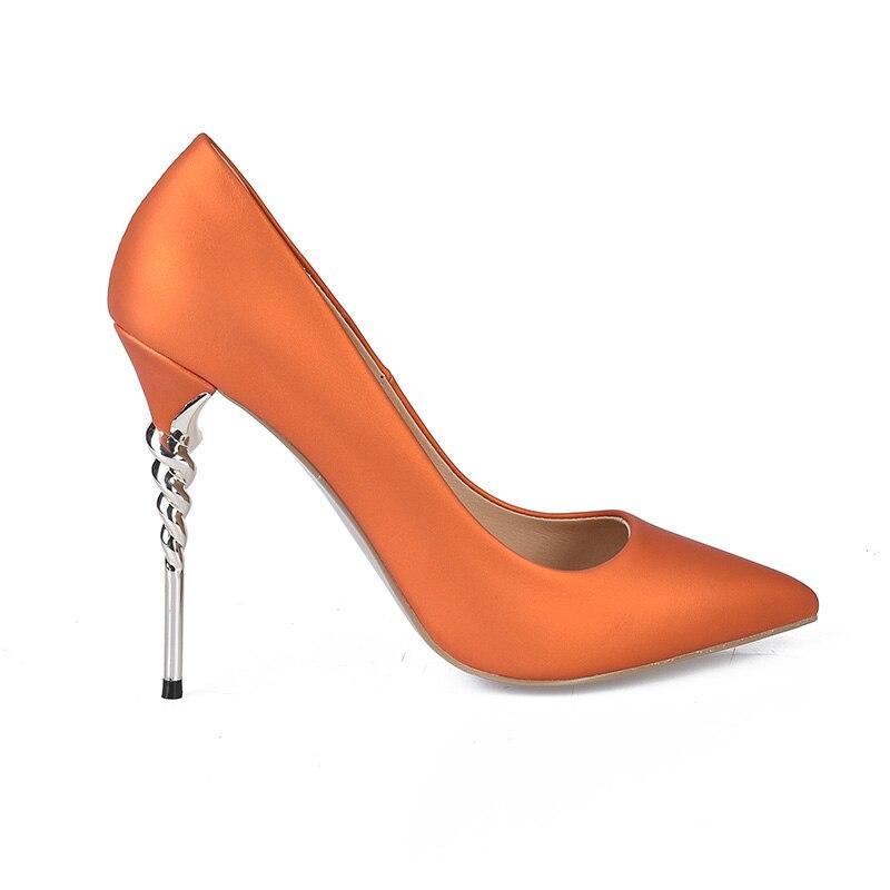 da festa donna alto scarpe da tacco con Wetkiss estese giallo super arancione primavera poco punta da blu scarpe a stile viola punta verde sexy sottile donne 2018 nuove EwXqzRXyc